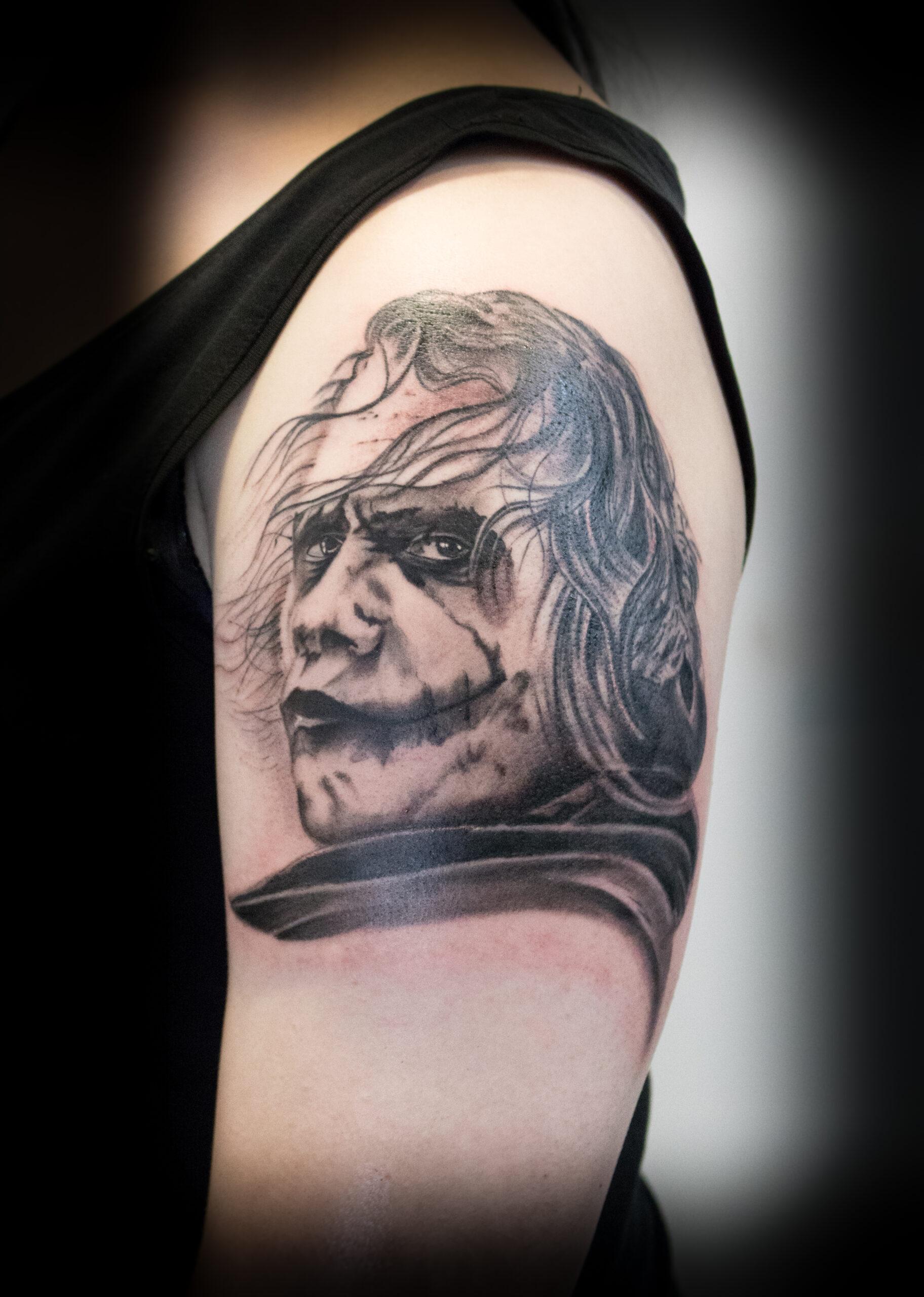 Capt. Beasto Tattoo - Joker