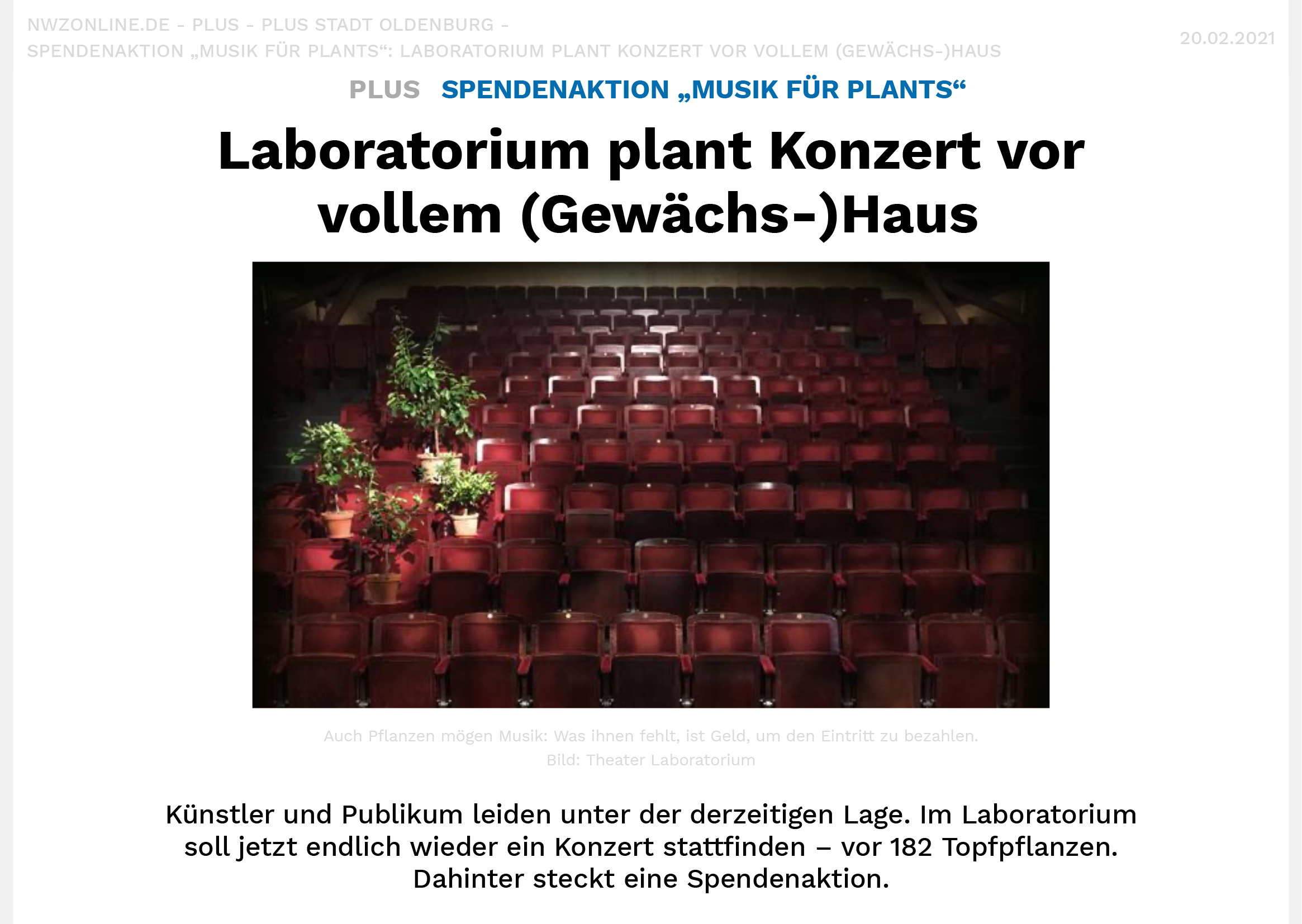Laboratorium plant Konzert vor vollem (Gewächs-)Haus-1