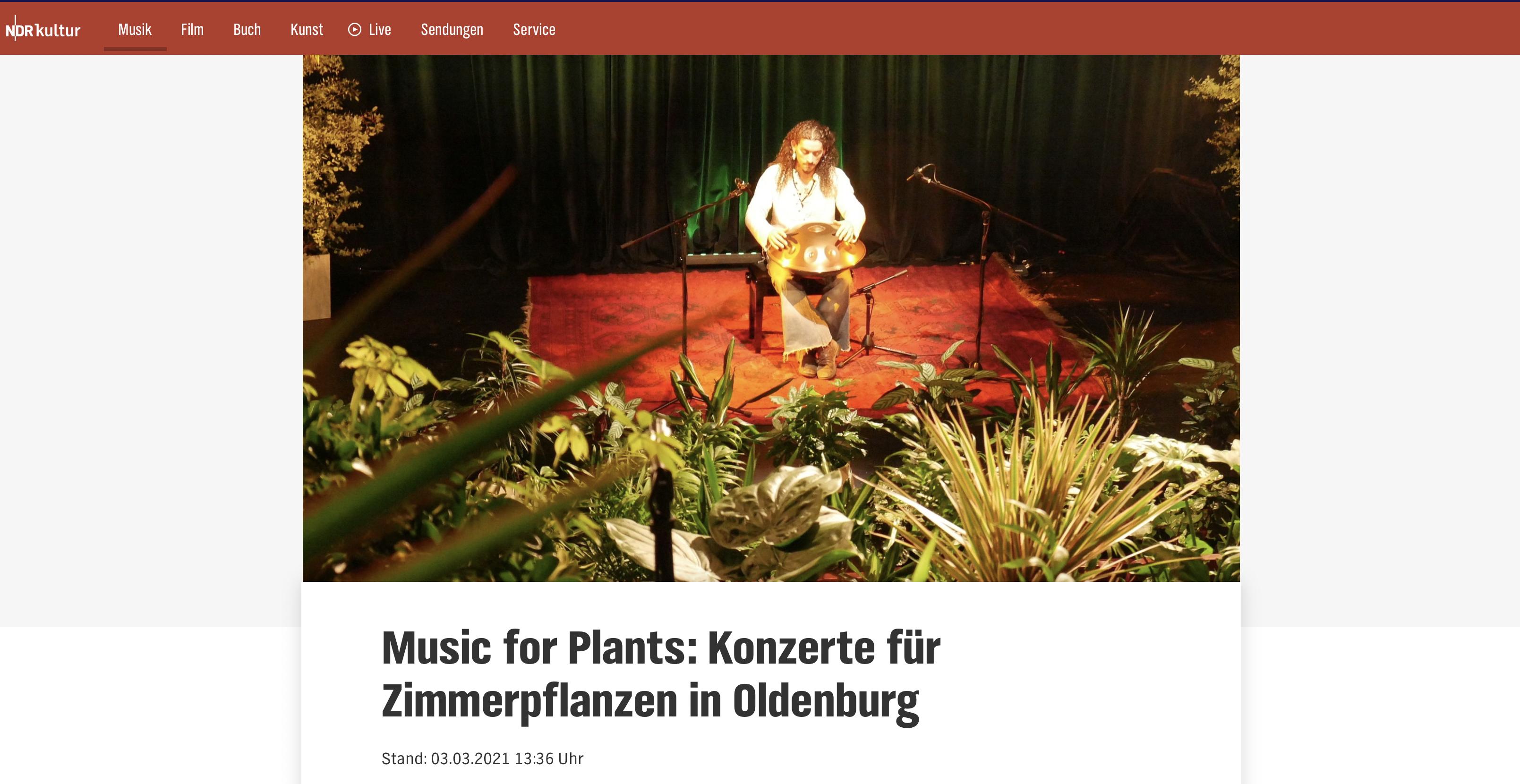 NDR-Kultur Music for Plants