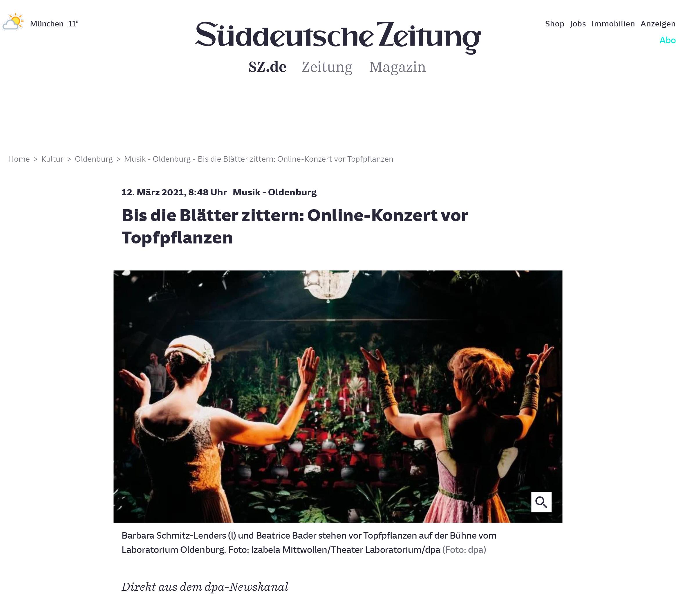 SZ-Konzert vor Topfpflanzen - Kultur - SZ.de-1