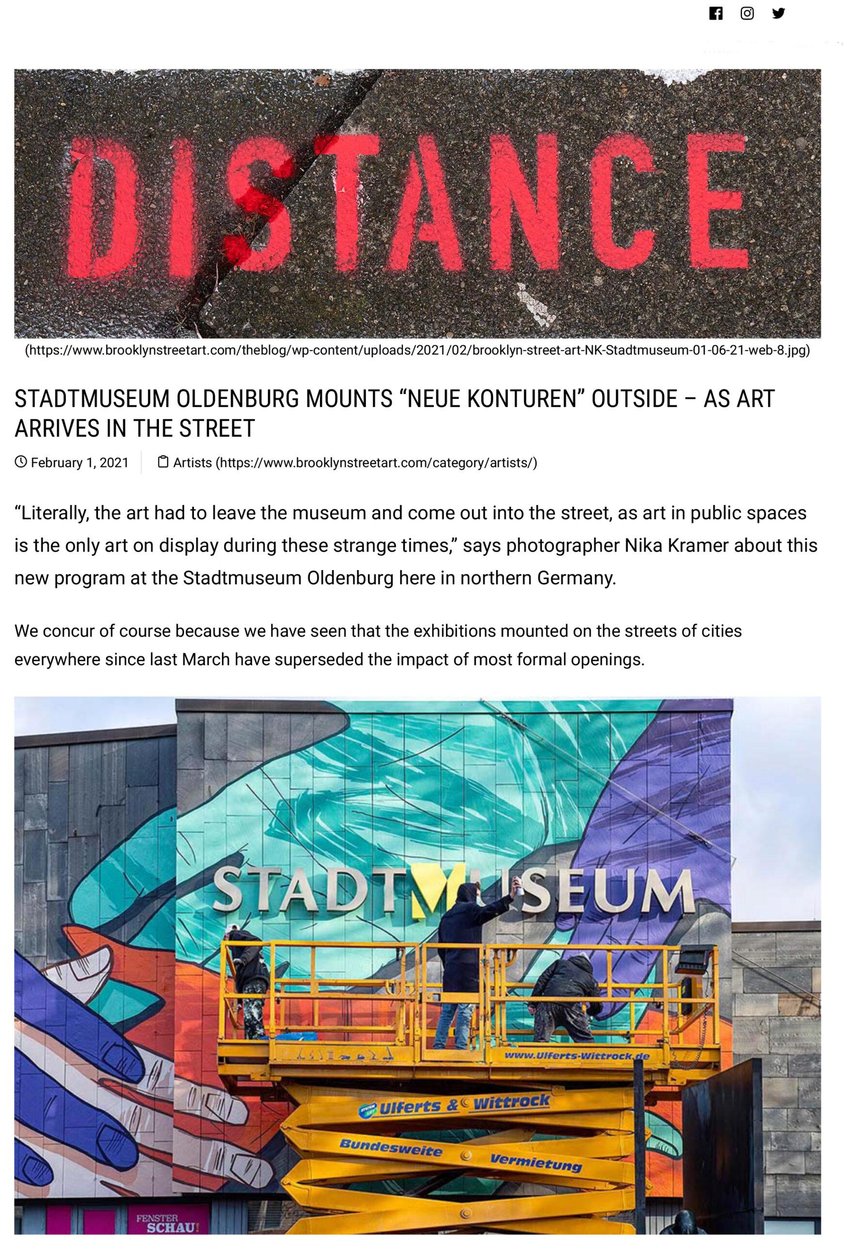 "Stadtmuseum Oldenburg Mounts ""Neue Konturen"" Outside – As Art Arrives in the Street _ Brooklyn Street Art-1"